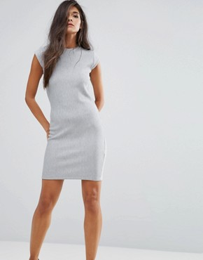 photo Debra Button Shoulder Dress by Supertrash, color Grey - Image 1