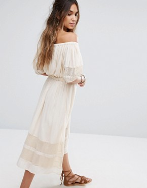 photo Marty Midi Dress by Tularosa, color Cream - Image 2