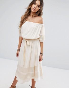 photo Marty Midi Dress by Tularosa, color Cream - Image 1