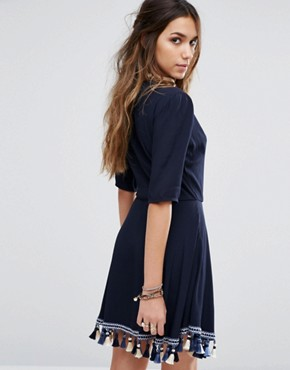 photo Tallulah Dress by Tularosa, color Navy - Image 2