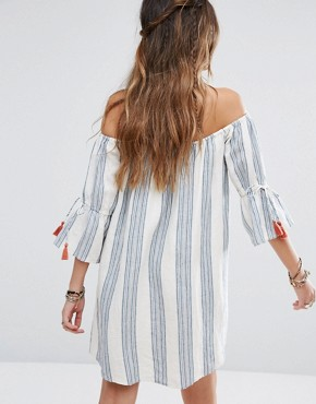 photo Sara Dress by Tularosa, color Chambray Stripe - Image 2