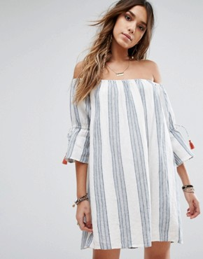 photo Sara Dress by Tularosa, color Chambray Stripe - Image 1