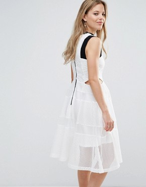 photo Cut Out Lace Dress by Amy Lynn, color White - Image 2