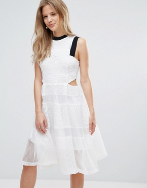 photo Cut Out Lace Dress by Amy Lynn, color White - Image 1