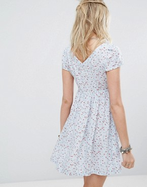 photo Floral Print Babydoll Dress by Denim & Supply by Ralph Lauren, color Blue - Image 2