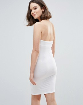 photo Bandeau Bodycon Dress by mbyM, color Optical White - Image 2