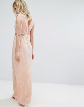 photo Grecian Maxi Dress by Oh My Love, color Orange - Image 2
