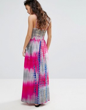 photo Cami Strap Maxi Dress in Tie Dye Print by Glamorous Petite, color Multi - Image 2