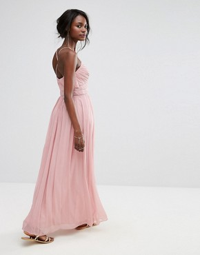 photo Chiffon Maxi Dress by Oasis, color Pink - Image 2