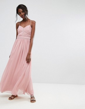 photo Chiffon Maxi Dress by Oasis, color Pink - Image 1