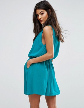 photo Emb Swing Dress by See U Soon, color Turquoise - Image 2