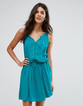 photo Emb Swing Dress by See U Soon, color Turquoise - Image 1
