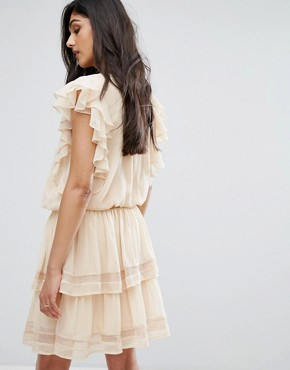 photo Hora Ruffle Detail Dress by Y.A.S Tall, color Sand - Image 2