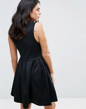 photo Skater Dress with Zip Front by Dex, color Black - Image 2