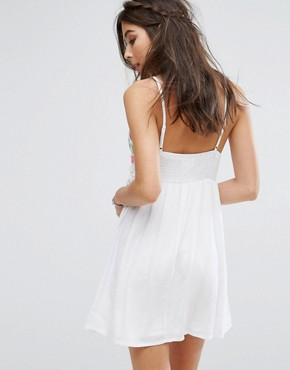 photo Cami Dress with Festival Embroidery by Kiss The Sky, color White - Image 2