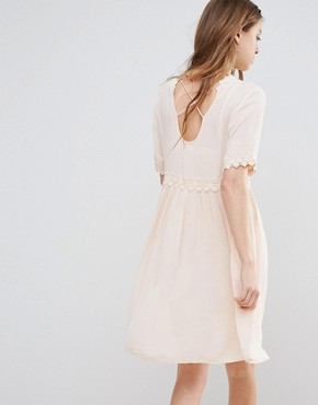 photo Smock Dress with Crochet Detail by Vero Moda, color Cream Tan - Image 2
