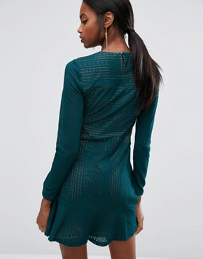 photo Panelled Mini Dress by BCBG Max Azria, color Dark Teal - Image 2