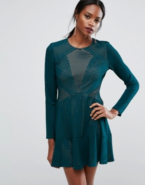photo Panelled Mini Dress by BCBG Max Azria, color Dark Teal - Image 1