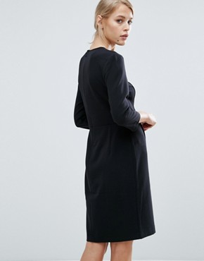 photo Nanna 3/4 Sleeve Shift Dress by Storm & Marie, color Black - Image 2