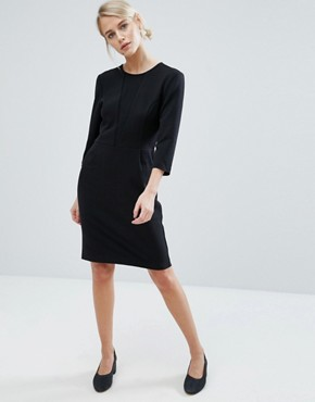 photo Nanna 3/4 Sleeve Shift Dress by Storm & Marie, color Black - Image 4