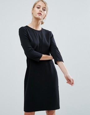 photo Nanna 3/4 Sleeve Shift Dress by Storm & Marie, color Black - Image 1