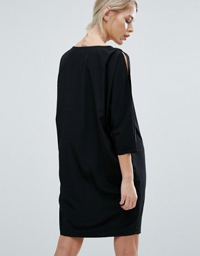 photo Max Cocoon Shift Dress by Storm & Marie, color Black - Image 2
