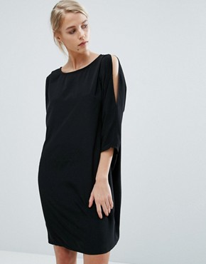 photo Max Cocoon Shift Dress by Storm & Marie, color Black - Image 1