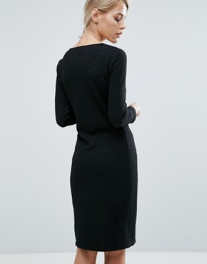 photo Must Bodycon Midi Dress by Storm & Marie, color Black - Image 2