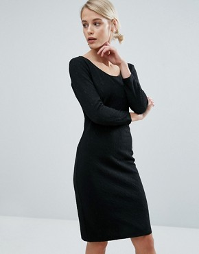 photo Must Bodycon Midi Dress by Storm & Marie, color Black - Image 1