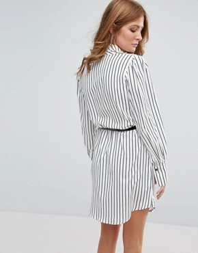 photo Stripe Dress with Belt by Millie Mackintosh, color Black/White - Image 2