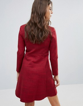 photo Janet Zip Dress by Wood Wood, color Rugger Red - Image 2