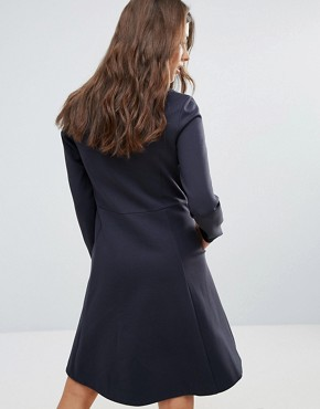 photo Janet Zip Dress by Wood Wood, color Dark Navy - Image 2