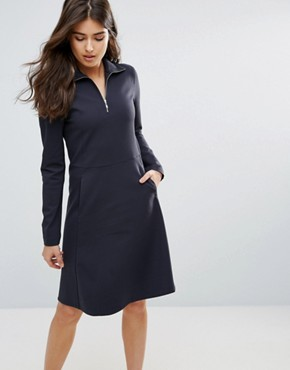 photo Janet Zip Dress by Wood Wood, color Dark Navy - Image 1