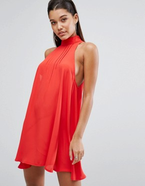 photo Swing Dress with Open Back by Parallel Lines, color Red - Image 2