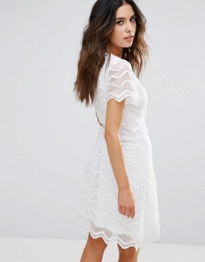 photo Brigette Wrap Dress by Little White Lies, color White - Image 2
