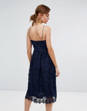 photo Rhett Lace Dress by Little White Lies, color Navy - Image 2