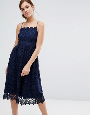 photo Rhett Lace Dress by Little White Lies, color Navy - Image 1