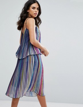 photo Luce Multicoloured Pleated Dress by Little White Lies, color Rainbox Pleat - Image 2