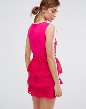 photo Rory Tiered Skirt Dress by Little White Lies, color Pink - Image 2