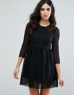 photo Maryse Skater Dress by Little White Lies, color Black - Image 1