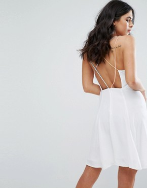 photo Odette Cross Back Dress by Little White Lies, color White - Image 1