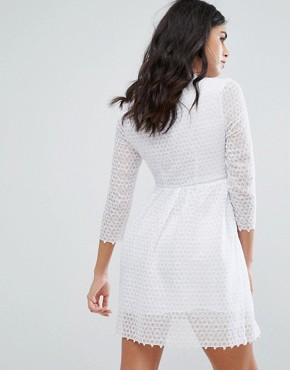 photo Maryse Skater Dress by Little White Lies, color White - Image 2