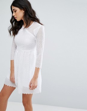 photo Maryse Skater Dress by Little White Lies, color White - Image 1