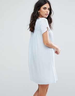 photo Fleur Smock Dress by Little White Lies, color Blue - Image 2