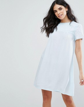 photo Fleur Smock Dress by Little White Lies, color Blue - Image 1