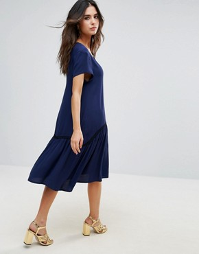 photo Maiya Smock Dress by Little White Lies, color Navy - Image 2