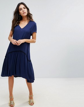 photo Maiya Smock Dress by Little White Lies, color Navy - Image 1