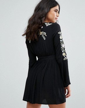 photo Hortense Embroidered Festival Dress by Little White Lies, color Black - Image 2