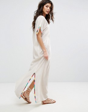 photo Kirsie Long Dress by Star Mela, color Ecru/Multi - Image 2