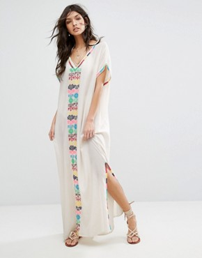 photo Kirsie Long Dress by Star Mela, color Ecru/Multi - Image 1